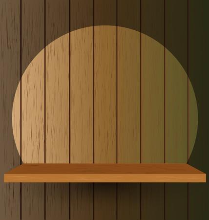 Empty Shelf For Exhibition, Vector Illustration Vector