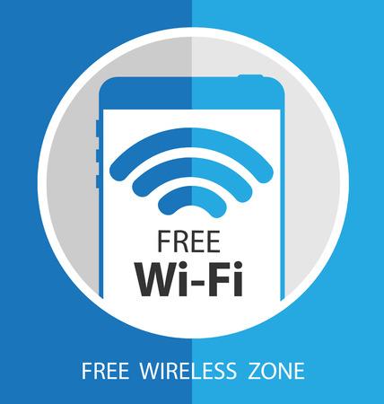 vector wifi symbol, free wifi Ilustração