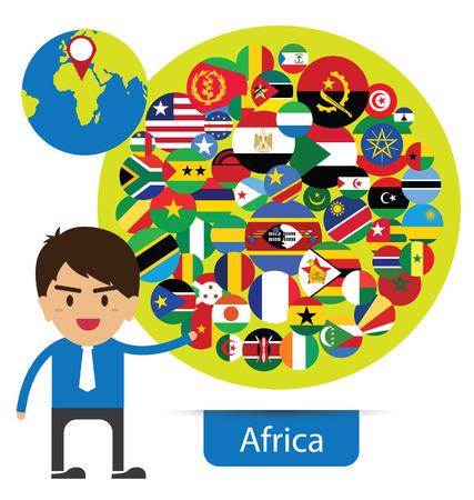 Flag of Africa. vector Illustration. Vector