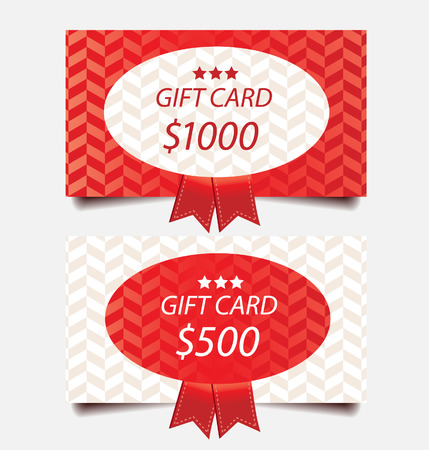 free gift: gift cards vector template