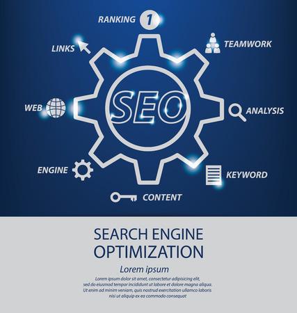 search engine optimization. vector Illustration. Vector