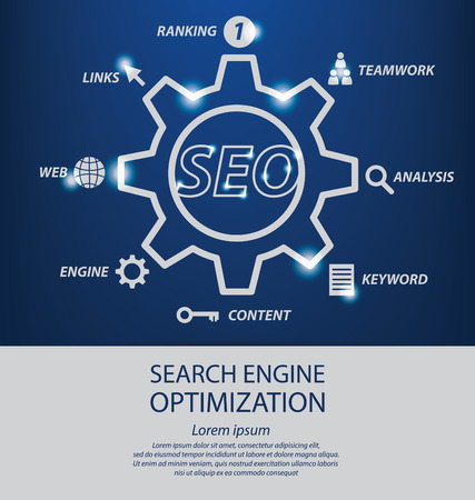 linking: search engine optimization. vector Illustration.