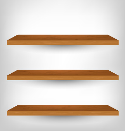 empty shelf: Empty Shelf For Exhibition, Vector Illustration Illustration