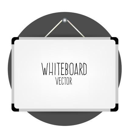 Whiteboard, vector illustration