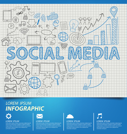 Social media concept vector Illustration Vector