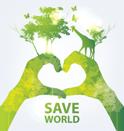 Go green concept. Save world vector Illustration. Фото со стока - 37311510