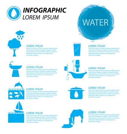 ahorrar agua: infograf�a agua Vectores