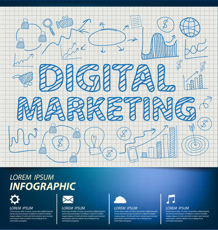 digital marketing concept vector Illustration Vector