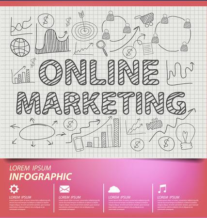 Online marketing concept vector Illustration Vector