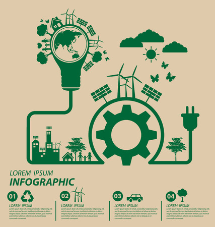 environment friendly: Ecology concept. save world vector illustration. Illustration