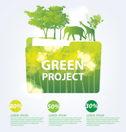Ecology concept. save world vector illustration. Vector