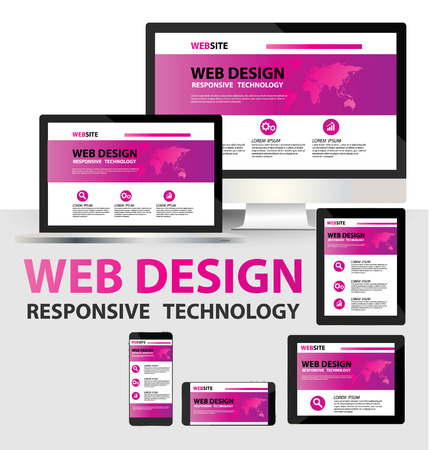 web site template: responsive web design concept vector