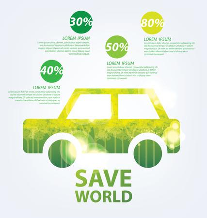 Ecology infographics Banco de Imagens - 38163506