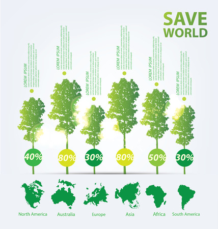 Go green concept. Save world vector Illustration. Illustration