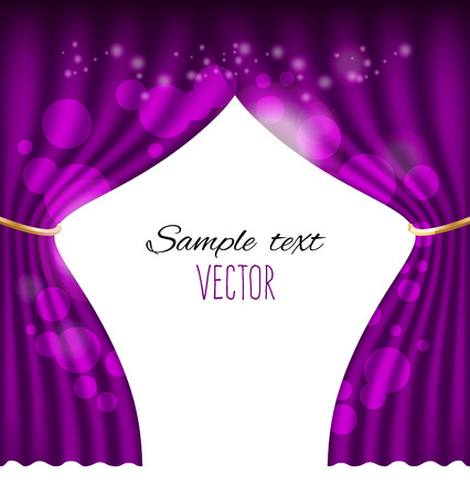 Purple curtains vector background Vector