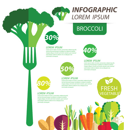 broccoli , infographics. vegetables vector illustration Vector
