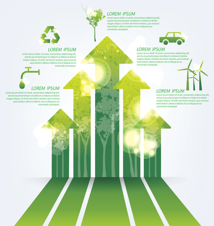 energy save: Ecology infographics Illustration