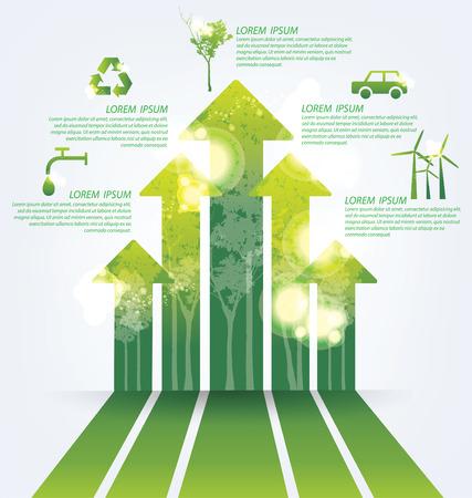 Ecology infographics Vettoriali
