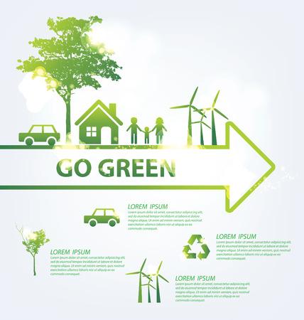 Ecology infographics Ilustração