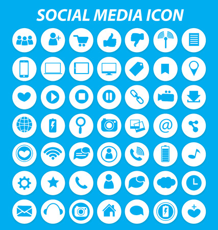 Social media icons vector Ilustrace
