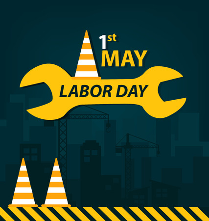 work worker workforce world: Labor Day concept. vector illustration.