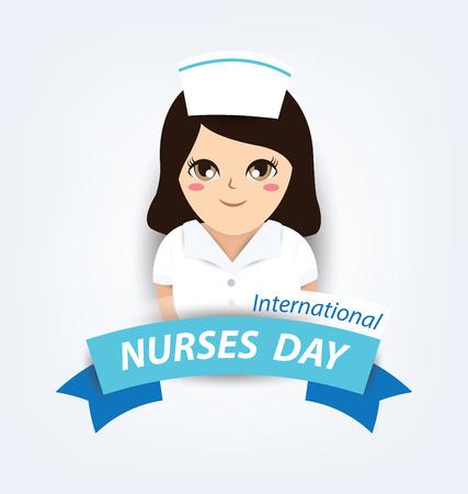 International nurse day concept Ilustração