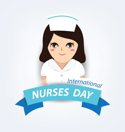 international: International nurse day concept Illustration