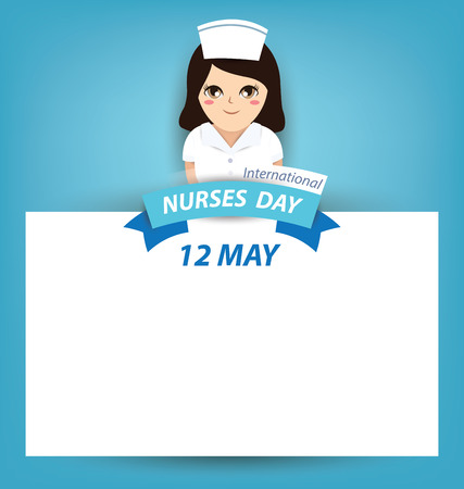 nurse: International nurse day concept Illustration