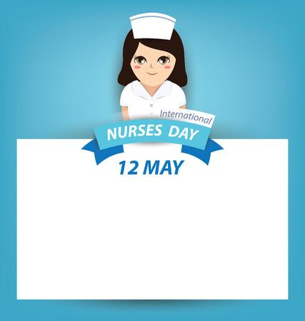 Internationale dag van de verpleegster-concept Stock Illustratie