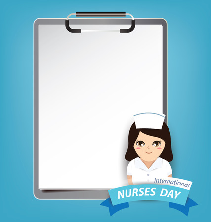 International nurse day concept Иллюстрация