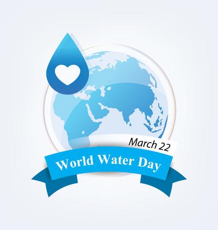 Ahorra agua. Concepto del Día Mundial del Agua. Ilustración del vector. Ilustración de vector
