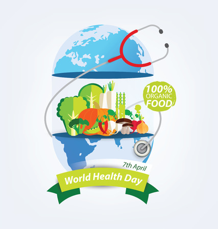 World health day concept. Vector illustration.