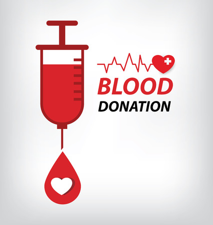 donations: blood donation concept. Vector illustration.