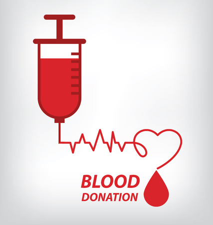 donor blood type: blood donation concept. Vector illustration.