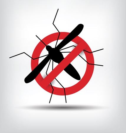 stop mosquito sign. vector illustration. Vettoriali