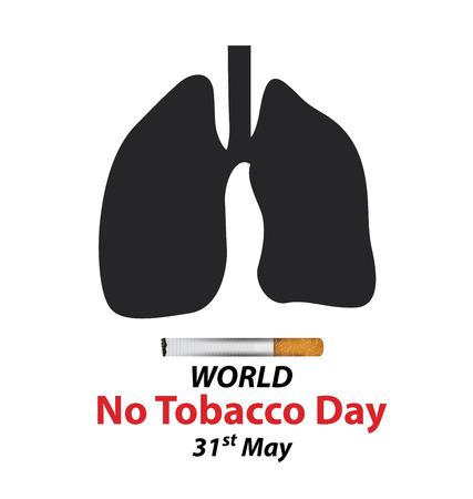 inhalacion: Concepto del D�a Mundial Sin Tabaco. ilustraci�n vectorial. Vectores