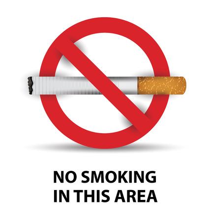inhalacion: se�al de no fumar. ilustraci�n vectorial.