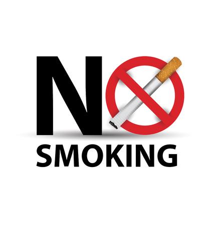 нет курить знак. векторные иллюстрации.