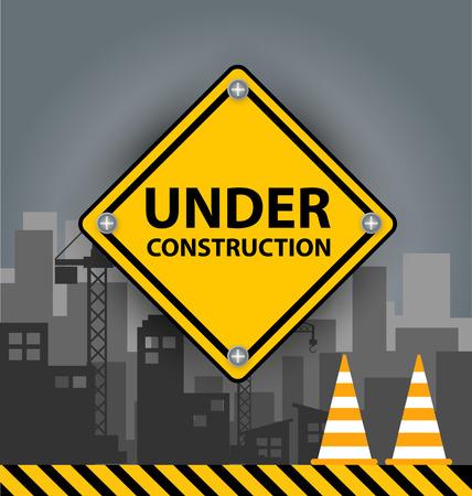 construction concept: Under construction concept. vector illustration.