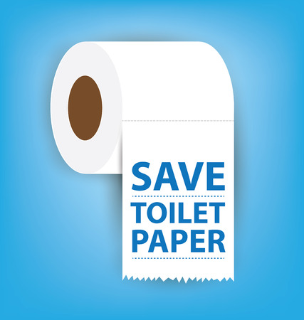 flush toilet: Toilet paper vector illustration