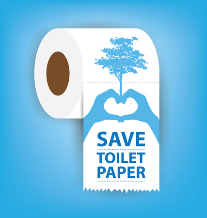 fecal: Toilet paper vector illustration