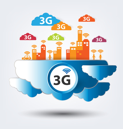 3g: 3G concept. vector illustration.