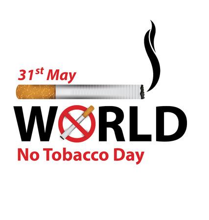 世界没有烟草日概念。矢量图。