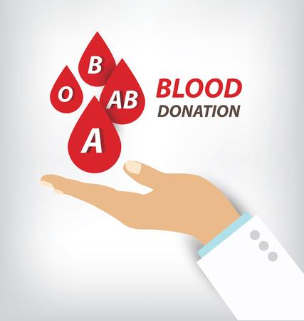 blood donation concept. Vector illustration. Vector