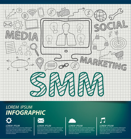social marketing: Social Media Marketing concept vector Illustration Illustration