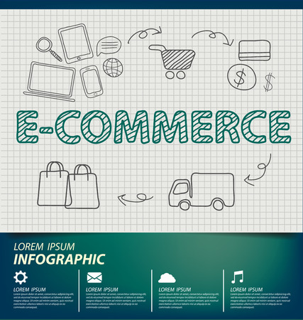easy money: e-commerce concept vector Illustration