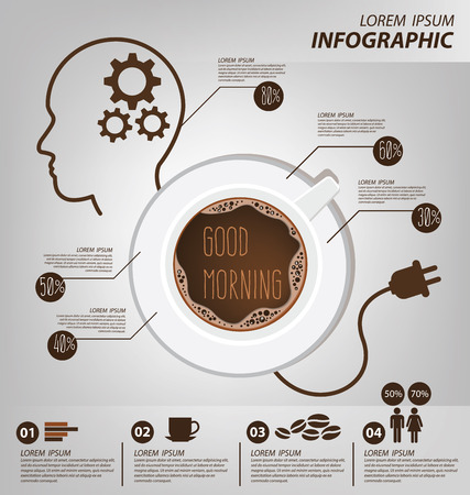 slumberous: Coffee infographic. vector Illustration.