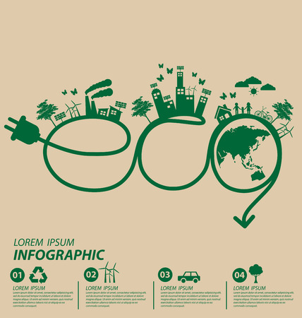 Ecology concept. save world vector illustration. Vectores