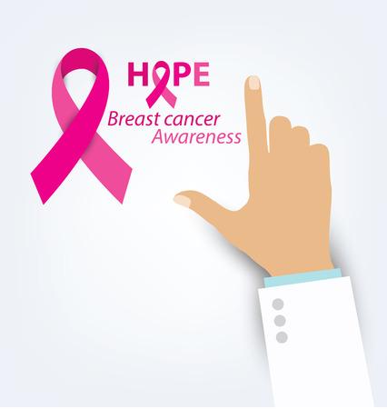 rak: opieki zdrowotnej i medycyny koncepcji. Ilustracja różowy świadomości raka piersi wstążka wektora. Ilustracja