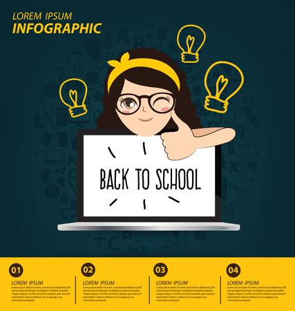 estudiante: Concepto de la educaci�n vector Ilustraci�n